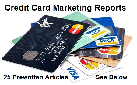 Pre-written Credit Card Marketing Reports