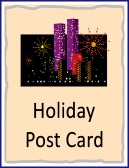 holiday post card
