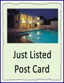 just listed post card