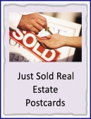just sold real estate postcards
