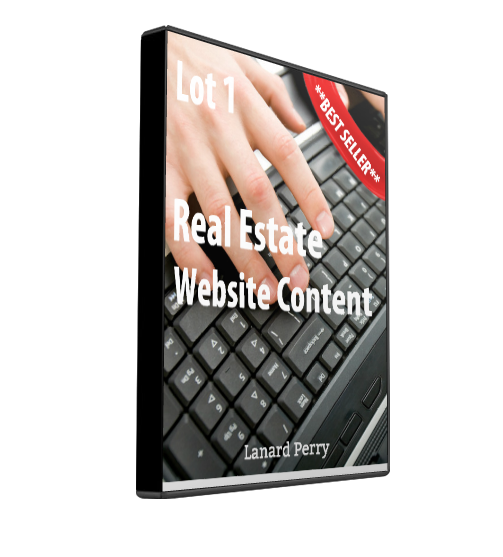 real estate web site content lot 1