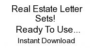 real estate letter sets