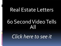real estate letters, real estate marketing