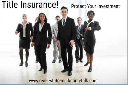 When you buy a home you protection from known and unforseen circumstances and Title Insurance is it.